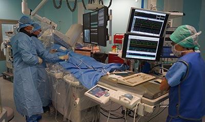 Procédure de rythmologie interventionnelle